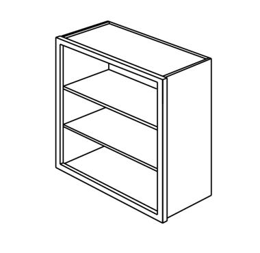 Framed Open Cabinet