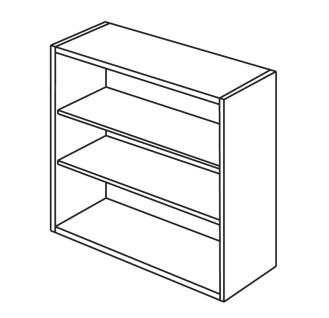 Frameless Open Cabinet